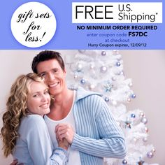 Get gift sets for LESS!   FREE US Shipping-- No minimum order  Coupon expires 12/9