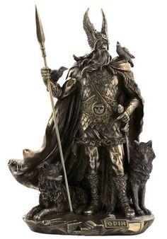 ODIN Norse Mythology Viking God Deity Statue