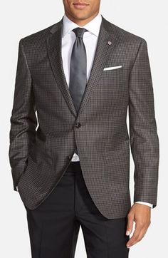 Ted Baker London 'Tom' Trim Fit Check Wool Sport Coat