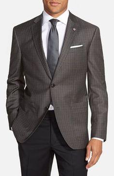 Ted Baker London 'Tom' Trim Fit Check Wool Sport Coat