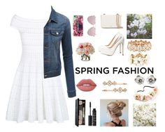 """""""spring"""" by jmms328 ❤ liked on Polyvore featuring Charlotte Russe, Alexander McQueen, LE3NO, Le Specs, Casetify, Adele Marie, Tory Burch, Accessorize, Diane James and OneSelf"""