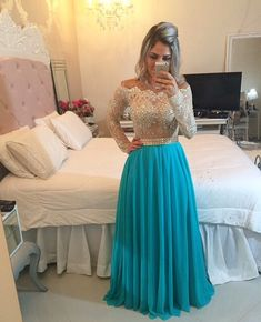 Cheap gown evening dress, Buy Quality gowns discount directly from China gown dress Suppliers: Long Sleeve Lace Prom Dresses 2016 Cheap Crystal Plus Size A Line Beaded Off Shoulder Evening Party Gown vestidos de gala Senior Prom Dresses, Prom Dresses 2016, Prom Dresses Long With Sleeves, Prom Dresses Blue, Dresses For Teens, Pretty Dresses, Bridesmaid Dresses, Lace Prom Gown, Chiffon Evening Dresses