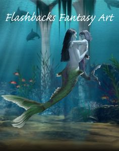 """Mother & Daughter Mermaids"", 11x14 Fantasy Fairy Photo Art 
