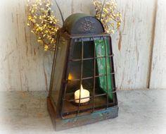 vintage porch lantern / rustic cottage light / by AntiqueShopGirl, $23.00