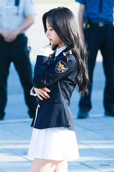 School Girl Outfit, Girl Outfits, Fashion Outfits, My Girl, Cool Girl, The Rok, Japanese Uniform, Kim Hyun, Glitter Girl