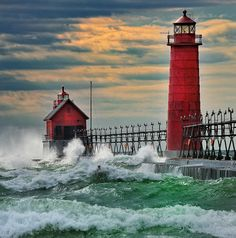 Grand Haven Breakwater Lighthouse,  Grand Haven, Michigan!