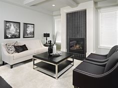 3 Masterful Simple Ideas: Fireplace With Tv Storage fireplace bookshelves living room.Rock Fireplace With Built Ins long fireplace wall.How To Build A Fake Fireplace. Wood Burner Fireplace, Simple Fireplace, Candles In Fireplace, Fireplace Furniture, Shiplap Fireplace, Fireplace Mirror, Concrete Fireplace, Living Room With Fireplace, Fireplace Surrounds
