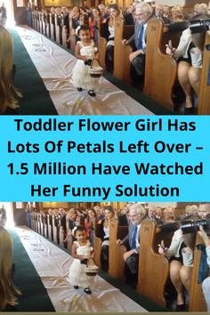 For a two-year-old, being a flower girl is a tough job. For this toddler, it almost went terribly wrong. The toddler was incredibly excited to attend a wedding for the first time. And then she learned that she was going to be a flower girl.