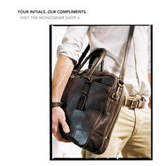 Coach has some awesome men's bags!!!
