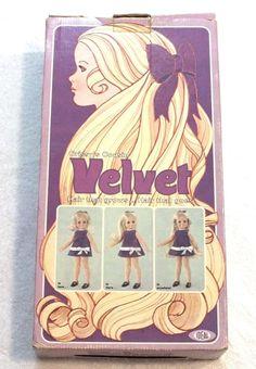 Vintage Chrissy's Cousin Velvet Doll Ideal 1970 Original Box Instruction Booklet #IDEAL #DollswithClothingAccessories