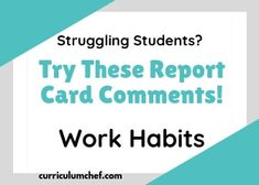 These report card comments targeted to struggling students and those with significant weaknesses will save you time and overwhelm. Preschool Report Card Comments, Teacher Comments, Report Comments, Reading Skills, Writing Skills, Writing Tips, Nonfiction Text Features, Feedback For Students, Report Cards