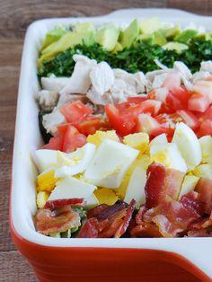 Vegan Keto, Carne, Cobb Salad, Diet Recipes, Good Food, Food And Drink, Low Carb, Meals, Cooking
