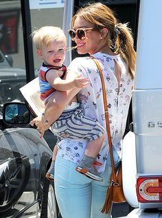 Hilary Duff with son Luca!