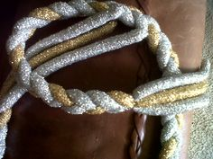 Gold and silver glittering belt