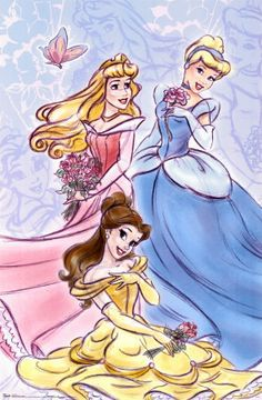Aurora, Cinderella, and Belle