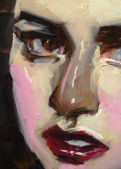"""Catlike"" (close-up of female), John Larriva art"