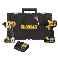 DEWALT 20-Volt MAX Lithium-Ion Cordless Drill Driver/Impact Driver Combo Kit (2-Tool) w/ (2) Batteries 1.5Ah, Charger and Case