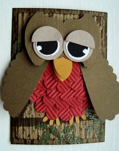 ATC Punch Owl by ruby-heartedmom - Cards and Paper Crafts at Splitcoaststampers