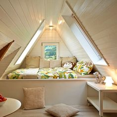 Kinderloft, guest house, interior design, La Maison Familienfreundliche Hotels, Black Forest, Tiny House, Stairs, Interior Design, Architecture, Bed, Places, Home