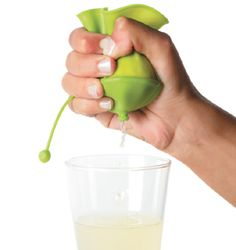 Another great innovation from the Design Museum shop - squeeze lemons with no pips or sore fingers!