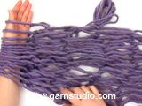 Arm Knitting!  So cool, and works up so fast.  Good for kids.