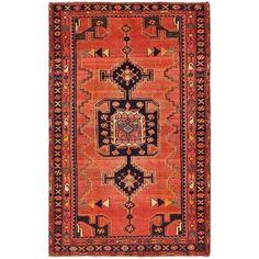 4' x 6' 4 Hamedan Persian Rug ($1,094) ❤ liked on Polyvore featuring home, rugs, persian style rugs, persian style area rugs, persian design rugs, persian rugs and persian area rugs