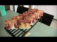 Making and cutting Burning Flame soap - YouTube