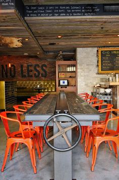 Great industrial table and chairs