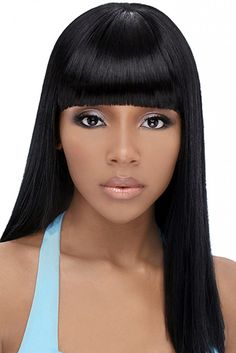 Awesome Black Weave Hairstyles with Side Bangs 10