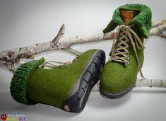 """Ботинки из войлока """" Alpen Boots"""" – купить в интернет-магазине на Ярмарке Мастеров с доставкой Felt Boots, Hiking Boots, Shoes, Fashion, Moda, Zapatos, Shoes Outlet, Fasion, Footwear"""