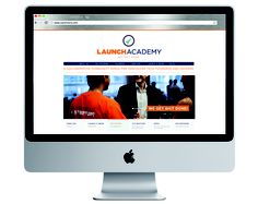 Website design by one of our graphic designers for launch academy