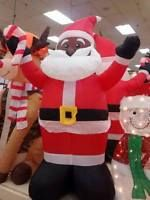 Black African American 4' Inflatable Santa Claus Blow Up Airblown Christmas  New