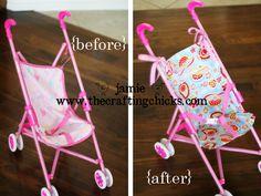 baby doll stroller re-vamp