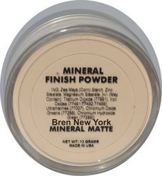 Shop for Mineral Makeup Loose Matte Finishing Powder Bren New York takes away shine minimizes imperfections such as lines, large pores, acne. Mineral Foundation, Powder Foundation, Ultramarines, Luminous Powder, Finishing Powder, Mineral Powder, It Goes On, Makeup Cosmetics, Im Not Perfect