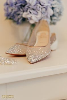 Christian Laboutin wedding shoes and wedding flowers captured by creative Gloucestershire Wedding Photographer Amber Marie Photography www.ambermariephotography.co.uk