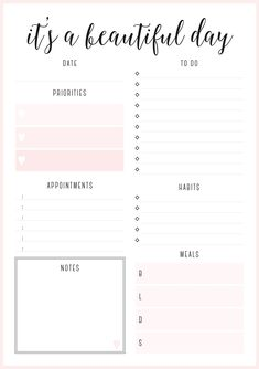 Daily Schedule Free Printable  Free Printable Free And Planners