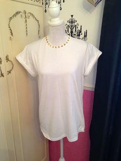 Studded t-shirt  http://laurenkatedavies.blogspot.co.uk/p/studded-t-shirts-great-way-to-spice-up.html