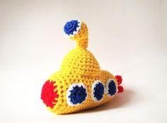 Crochet Yellow Submarine baby toy