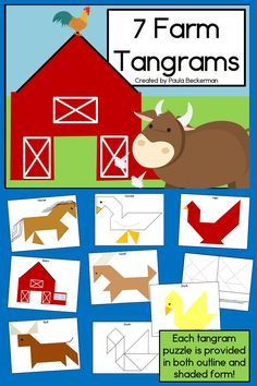 "What a fun math activity for my classroom! These are perfect for my ""down on the farm"" unit!  $"