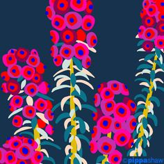 close up of a work in progress by artist and designer Pippa Shaw - available for licensing painting illustration Art And Illustration, Pattern Illustration, Floral Illustrations, Art Floral, Posca Art, Guache, Gouache Painting, Abstract Flowers, Pattern Art