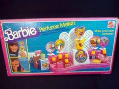 Late 70's early 80's Barbie Perfume Maker.  Kinda like a sexist version of a junior chemistry set.