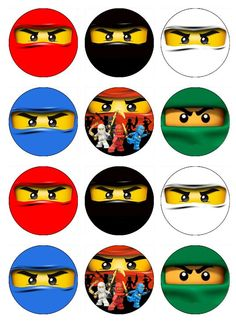 NINJAGO Edible Cupcake Toppers 12 ninja images for by EtsysEdibles, $6.50