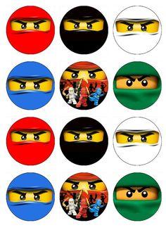 NINJAGO Edible Cupcake Toppers 12 ninja images for by EtsysEdibles, $6.50