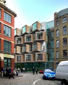 Microflat is a proposal for affordable high-density housing in London, England. Designed by Piercy Conner Architects