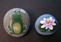 Frog design by Chris Haughey.   Waterlily design by Pat Wakefield.