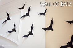 Easy DIY Halloween Decor | Wall Of Bats « Diy « Marvelous Mommy