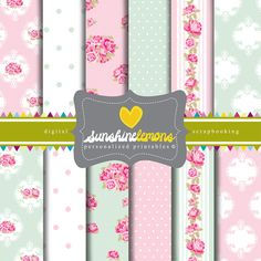 Pretty shabby chic scrapbooking paper