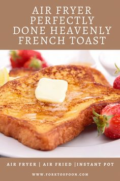 These Air Fryer Perfectly Done Heavenly French Toast is as the name implies heavenly! , These Air Fryer Perfectly Done Heavenly French Toast is as the name implies heavenly! Air Fryer Recipes Breakfast, Air Fryer Oven Recipes, Air Fryer Dinner Recipes, Airfryer Breakfast Recipes, Convection Oven Recipes, Recipes Dinner, Pain Perdu Simple, Grill Dessert, Air Frier Recipes