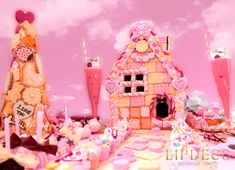 Baby Event, Candy House, Cartoon Background, Living Dolls, Everything Pink, Pictures To Paint, Candyland, Candy Colors, Game Art