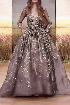 Ziad Nakad Haute Couture Spring 2018 - Not Ordinary Fashion is art Couture Dresses Gowns, Haute Couture Dresses, Designer Evening Gowns, Blue Evening Gowns, Evening Dresses, Tulle Ball Gown, Ball Gowns, Women's Runway Fashion, Fashion Fashion